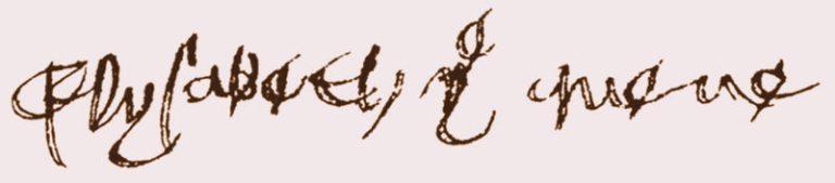 La Firma de Isabel de York