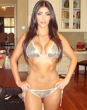Kim Kardashian Delgada