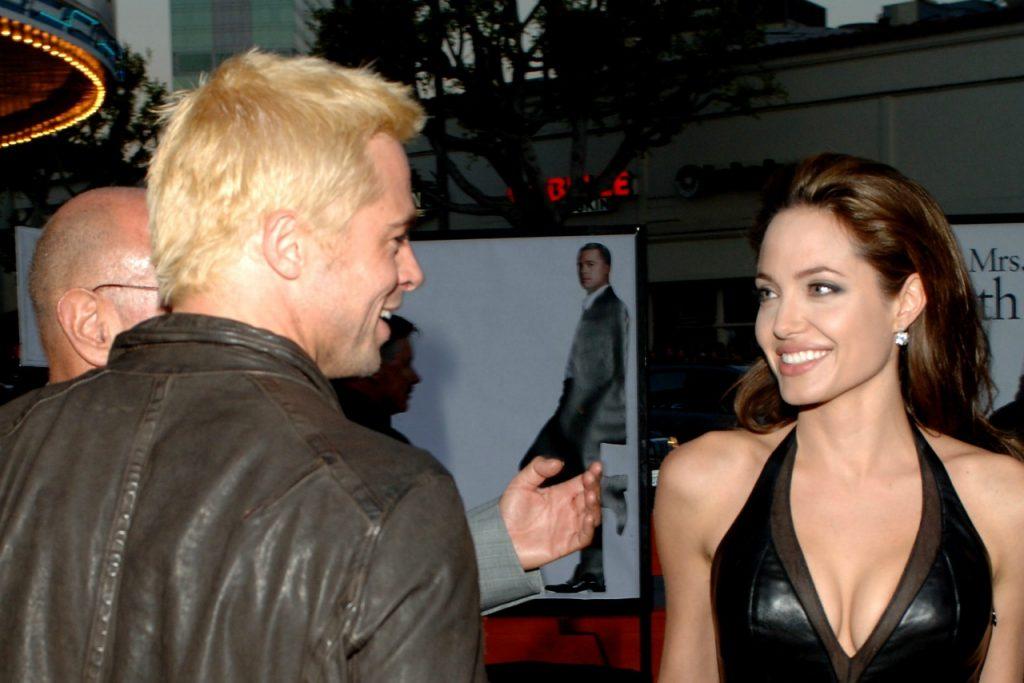 Angelina Jolie y Brad Pitt en 2005