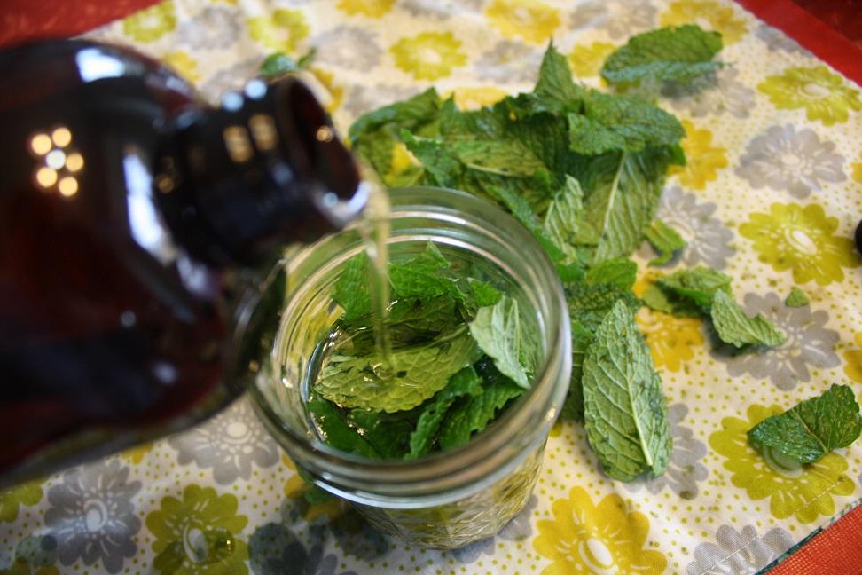 aceite de menta agua