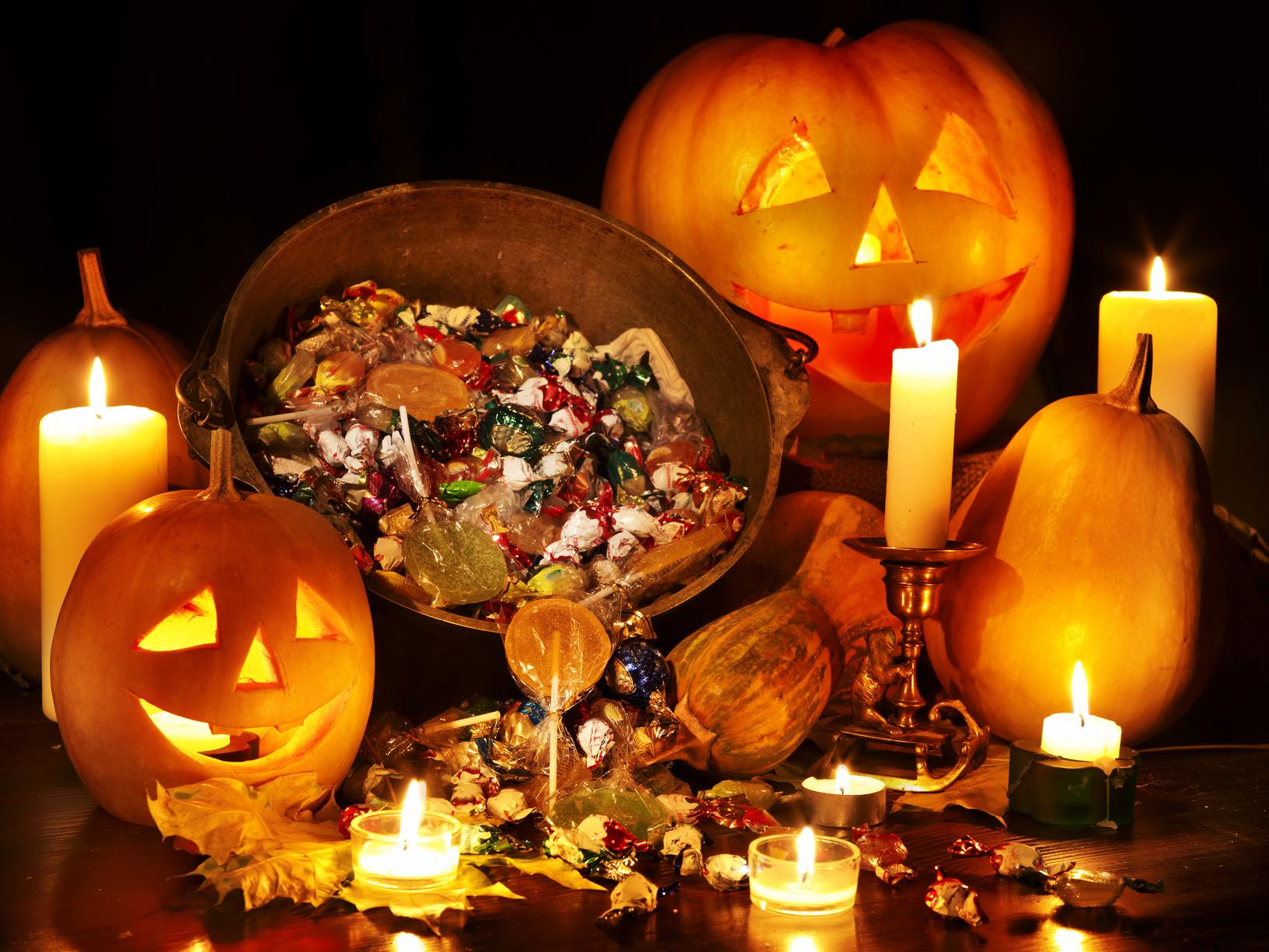 Halloween pumpkin lantern. Trick or treat.