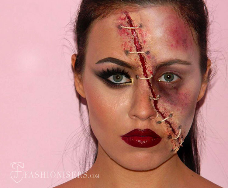 wounded_glam_lady_halloween_makeup_tutorial_fashionisers