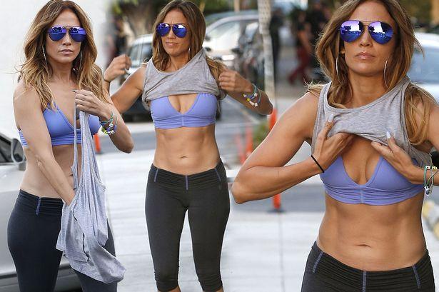 Jennifer Lopez Entreno antes de los Oscar