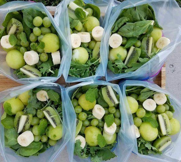 Fruta Cortada para Congelar