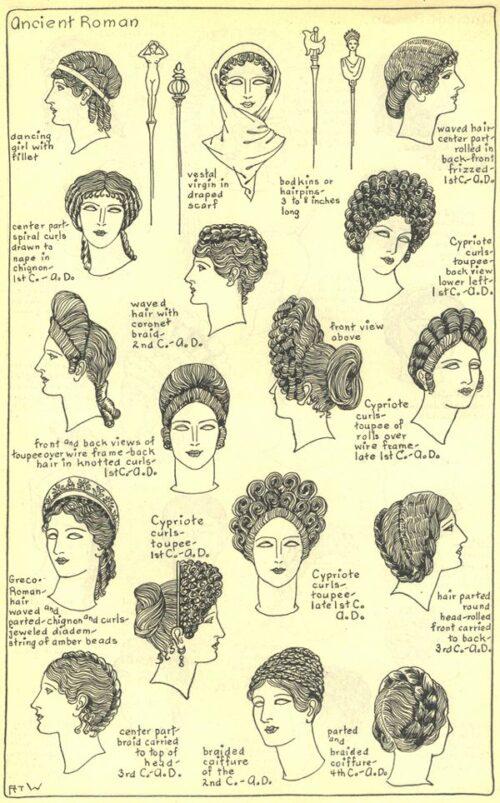 Peinados de la Antigua Roma