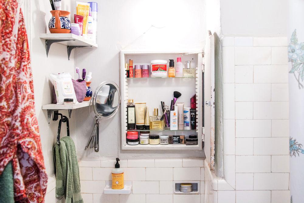 bathroom into the gloss