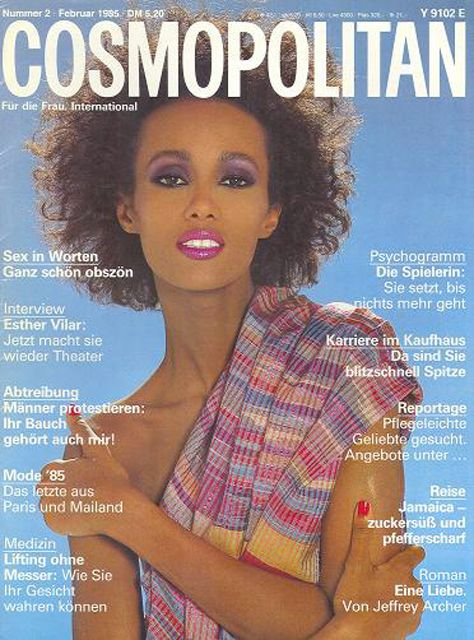 La Modelo Iman en la Portada de Cosmopolitan