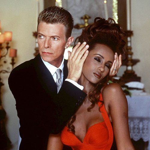 La Boda de David Bowie y la Modelo Iman