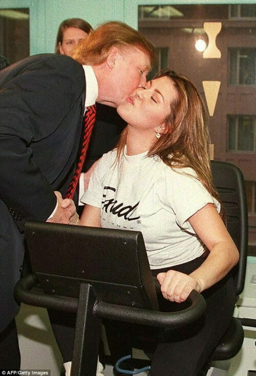 Donald Trump y Alicia Machado