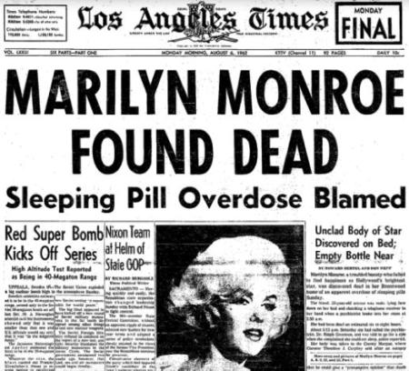 Lo que Pasó el Día de la Muerte de Marilyn Monroe