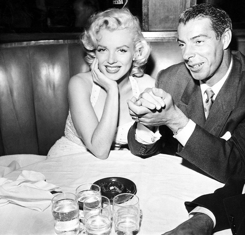 Marilyn Monroe con su Segundo Marido Joe DiMaggio
